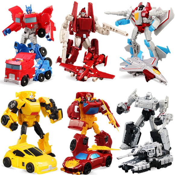 6 Colors Transformation Deformation Robot Truck Tank Racing Car Plane Model Action Figures Toys Gift for Chirldren boys