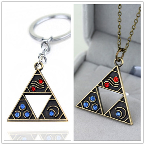 Game The Legend of Zelda: Breath of the Wild Necklace Pendent Zelda Logo Alloy Pendant Cospaly Accessories Prop
