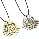 2 Models The Legend of Zelda Wizard Mask Owl Necklace Game Cosplay Metal Necklace Pendant Accessories Gifts