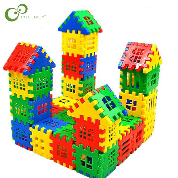 24pcs/lot Baby Paradise House spelling puzzle plastic blocks City DIY Creative Model Figures Educational Kids Toys LYQ