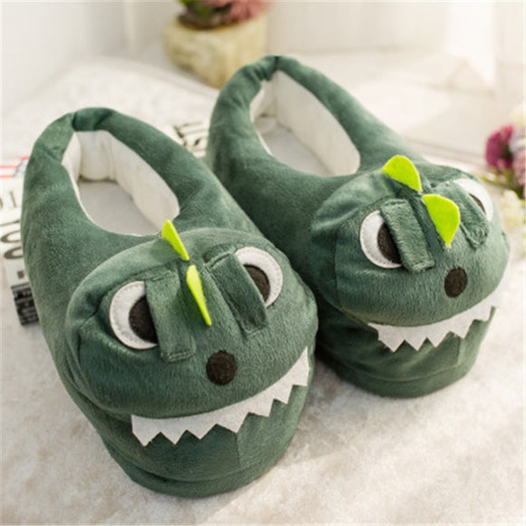 MVP Boy's and Girl's Cotton Plush Animal Prints Home Slippers Winter Indoor Shoes