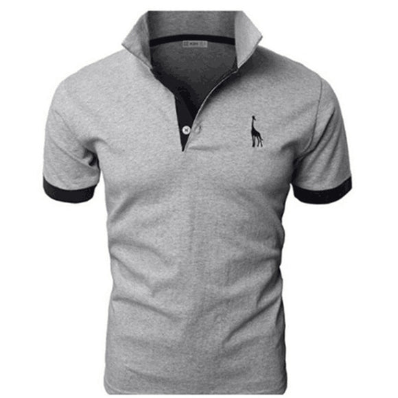 TJWLKJ Men Clothes 2019 Top Tees Men Polo Shirt 5xl Fawn Pattern Short Sleeve Polo Shirt 13Color Cotton Slim Polos Para Hombre
