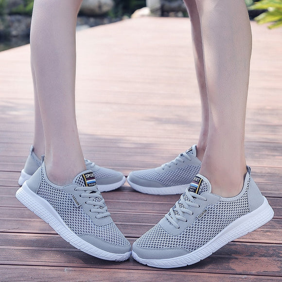Fashion Casual Women Shoes Flat Breathable Air Mesh Sneakers Women Outdoor Sport Sneakers Walking Shoes Ladies Footwear Couple