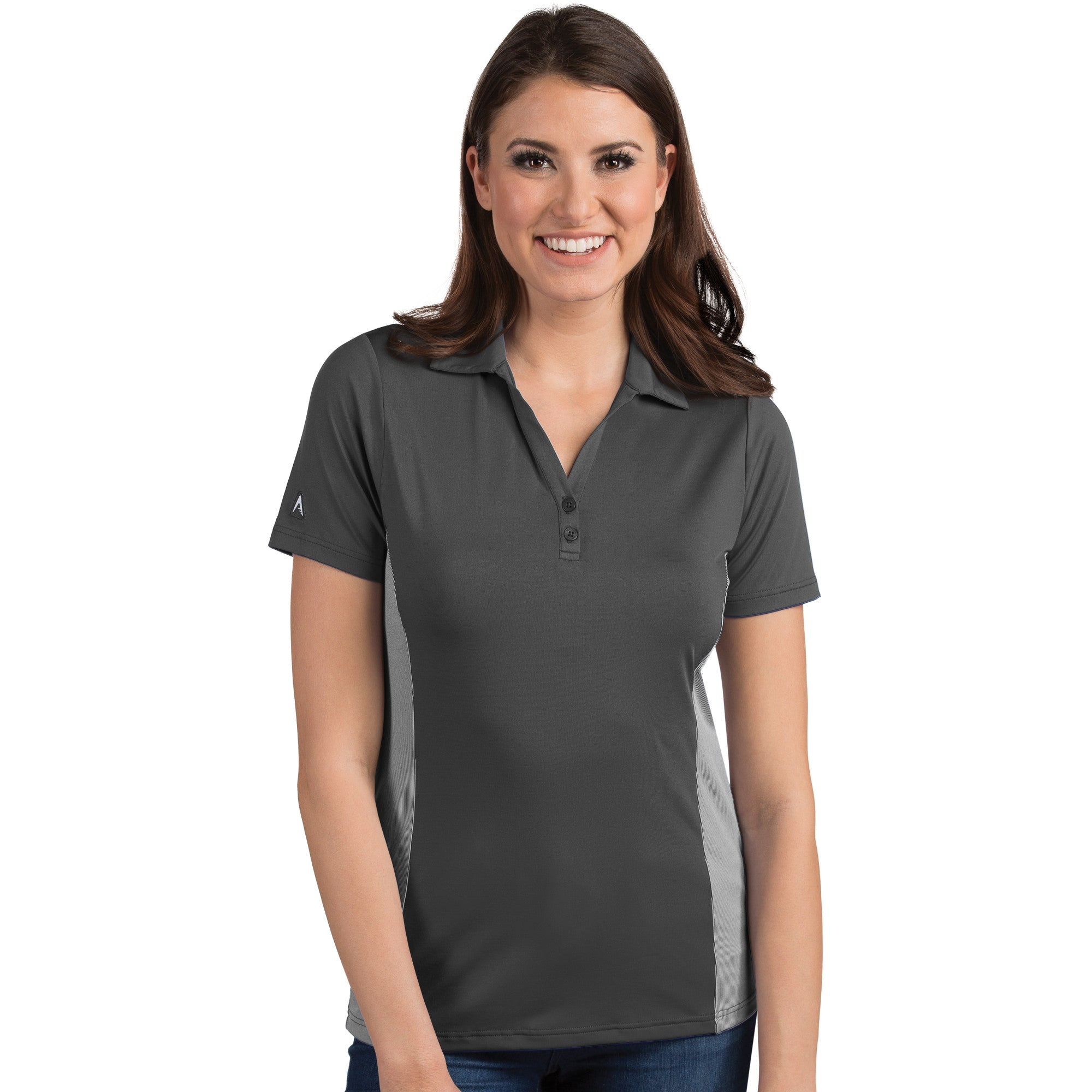 Antigua Women's Venture Polo Smoke