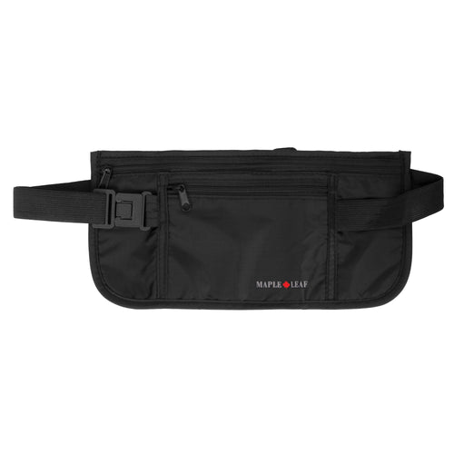 Maple Leaf Double Pocket Money Belt - ML6211BK