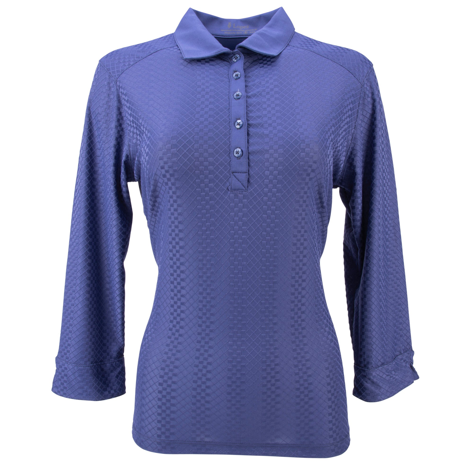 Nancy Lopez Golf Grace 3/4 Sleeve Polo - L420306