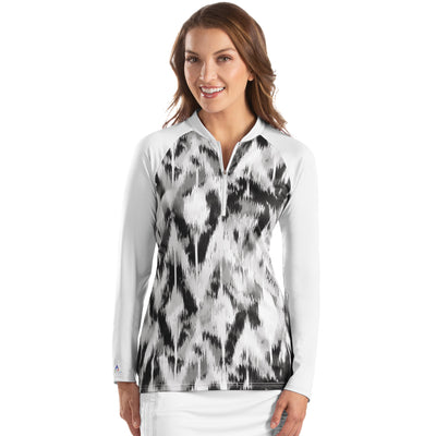 Antigua Women's Escapade 1/4 Zip Long Sleeve Polo - A104356