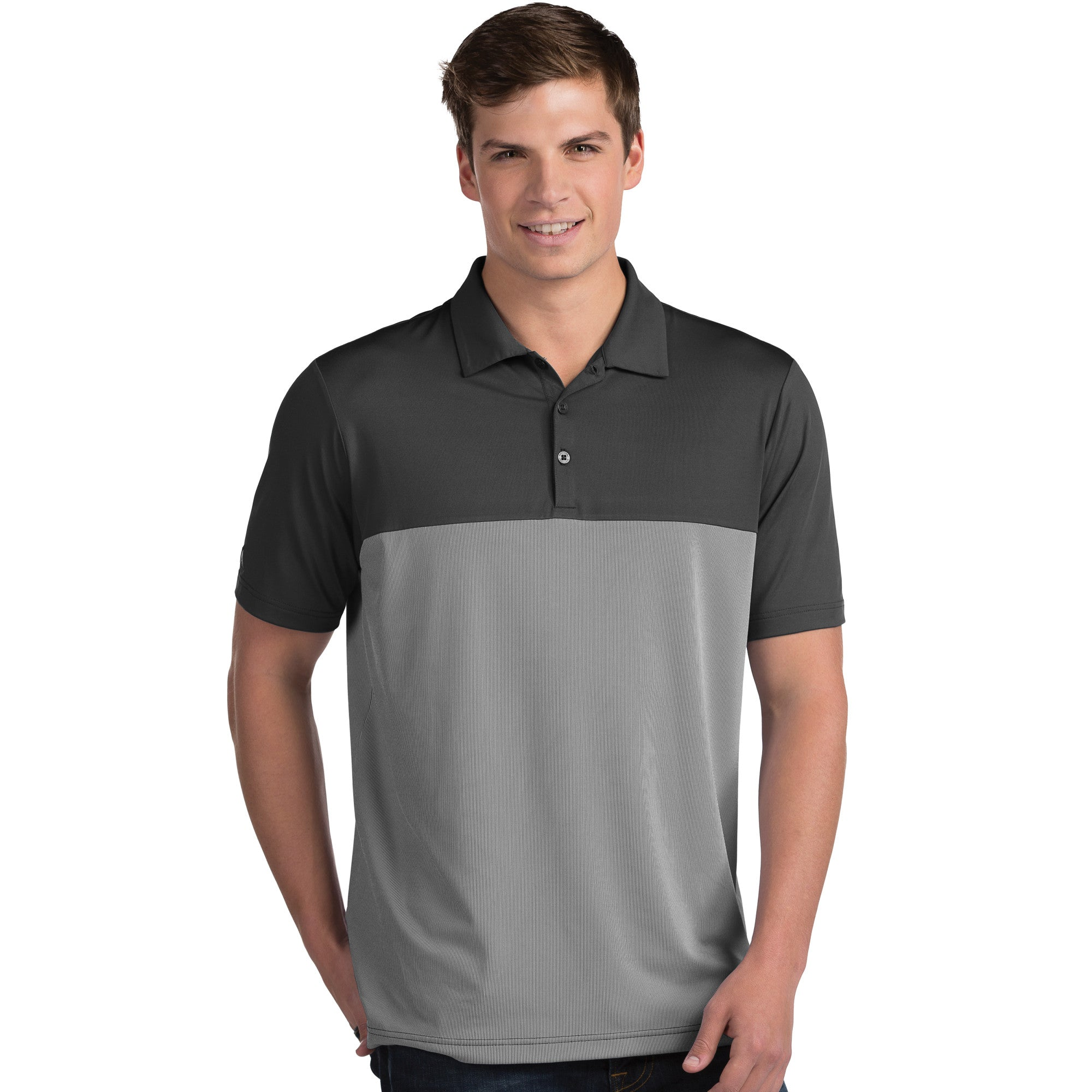 Antigua Men's Venture Polo Smoke