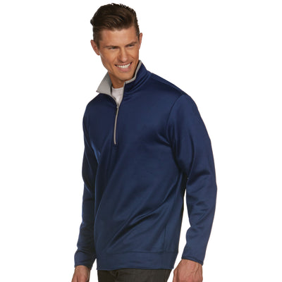 Mens Antigua Leader Pullover Navy / Silver