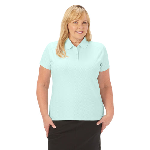 Ladies Nancy Lopez Golf Grace Short Sleeve Polo Plus Mist