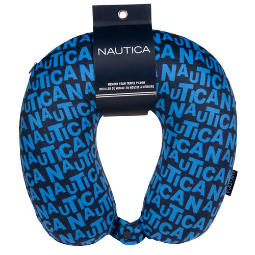 Nautica Memory Foam Neck Pillow - Island Waves - CT1002W17