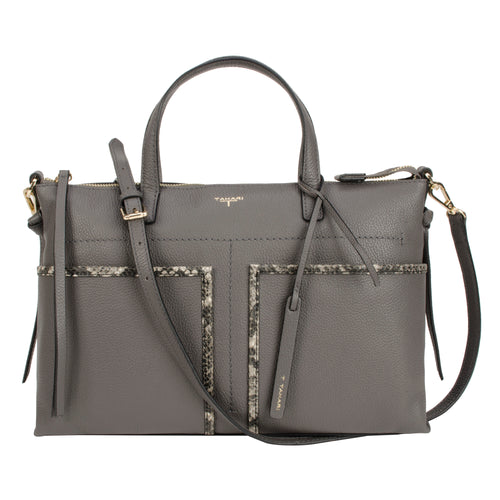 Tahari Skyler Large Satchel Leather Handbag - TT6020LE