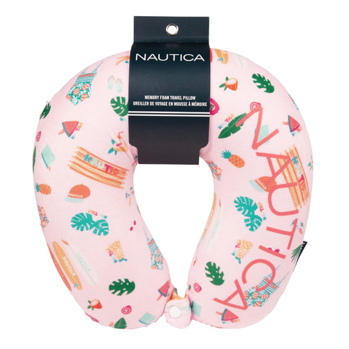 Nautica Memory Foam Neck Pillow - Conversational - CT1004C16