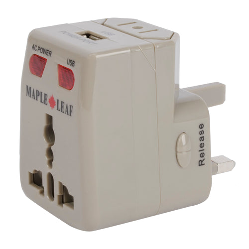 Maple Leaf World Wide Adapter Plug - ML1225GY