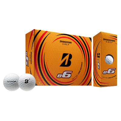 Mens Bridgestone Golf E6 White Dz White
