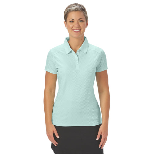 Ladies Nancy Lopez Golf Grace Short Sleeve Polo Mist
