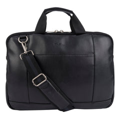 "Ben Sherman Faux Leather Slim Double Compartment Top Zip 15.6"" Computer Business Case - BS13024502"