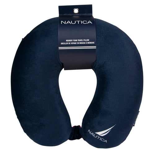 Nautica Memory Foam Neck Pillow - J-Class Logo - CT1003J05