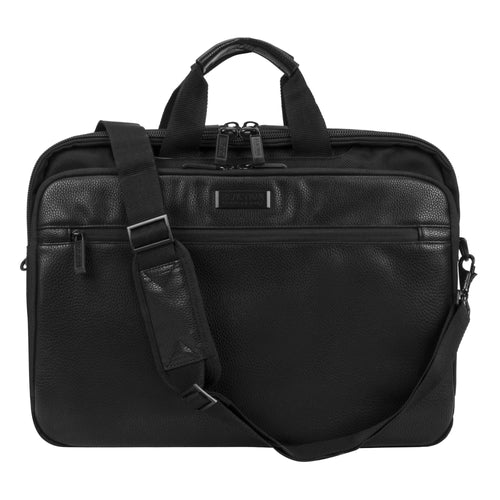 Kenneth Cole Vadornox Single Gusset Business Case Blk - KC53982502