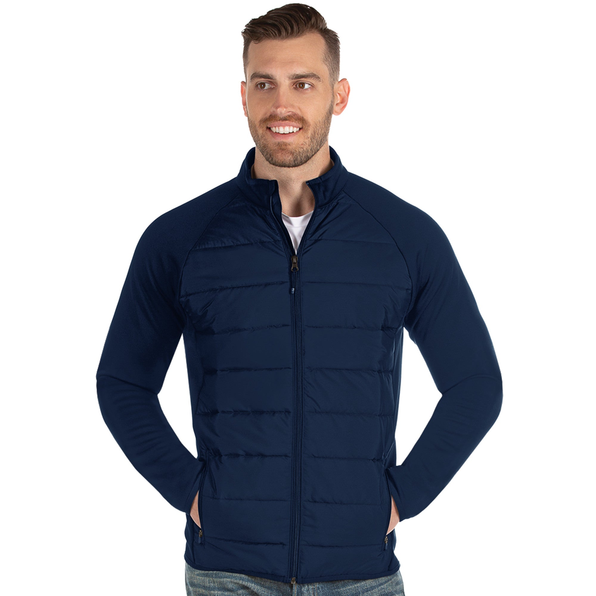 Mens Antigua Altitude Jacket Navy