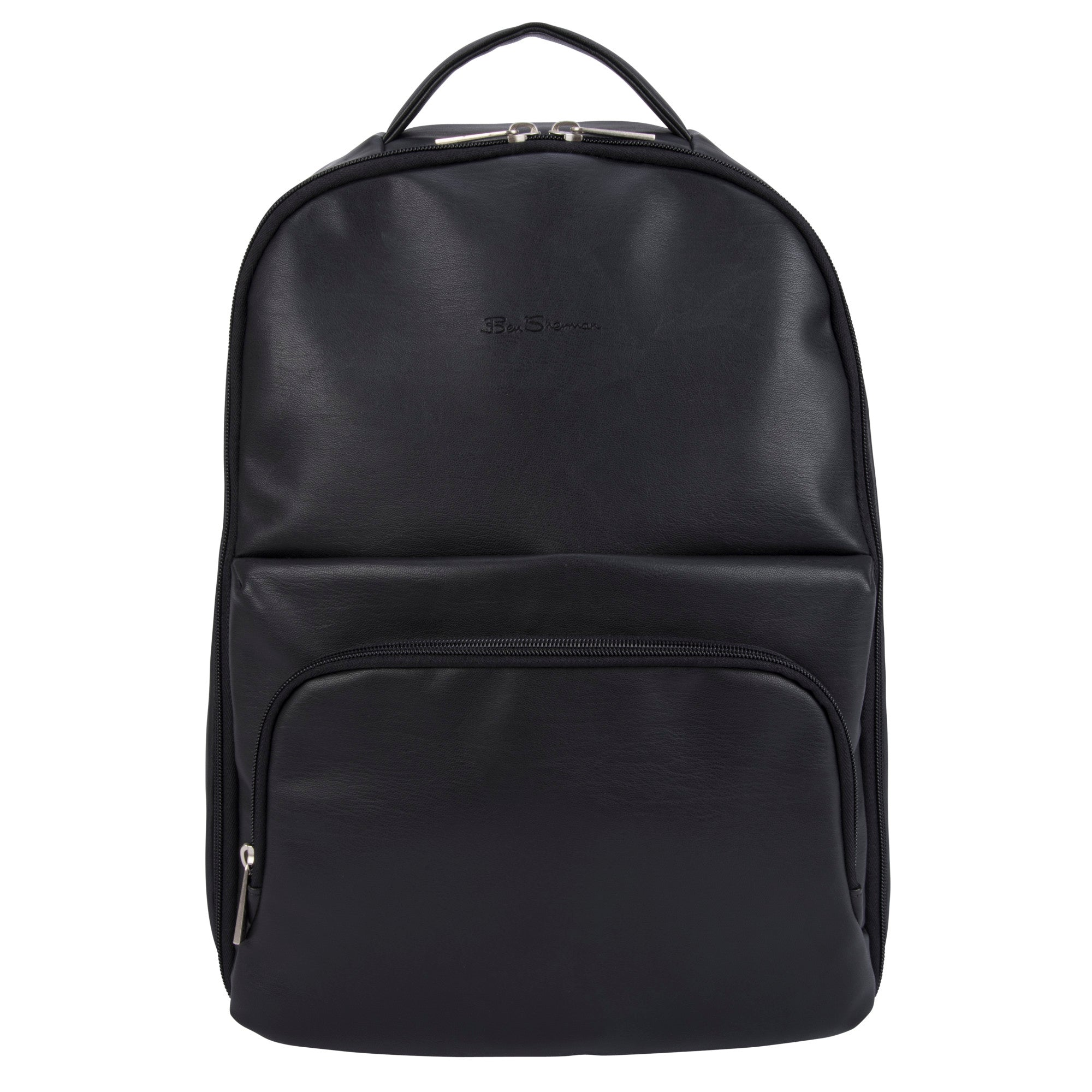 "Ben Sherman Faux Leather Single Compartment Top Zip 15.6"" Computer Backpack - BS17010502"