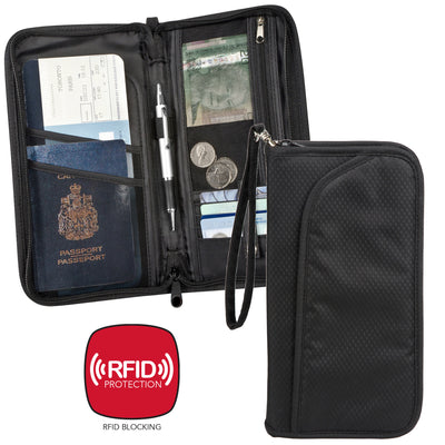 Maple Leaf Rfid Travel Organizer Wallet - ML3952AS