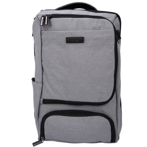 "Kenneth Cole New York 1680D Polyester Triple Compartment 2-Pocket 17.0"" Computer Backpack With Techni-Cole Rfid & Usb Charging Port - 5715968"