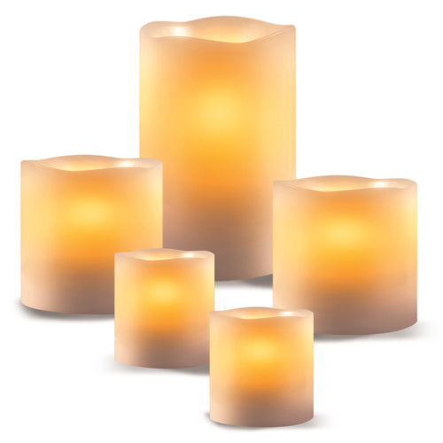 Apothecary Flameless Led Candle Set 5 Pc Set - AP8845HB19