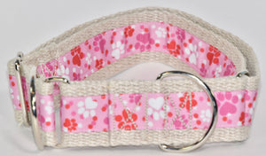 "1 1/2"" HEMP MARTINGALE PAWS COLLECTION"