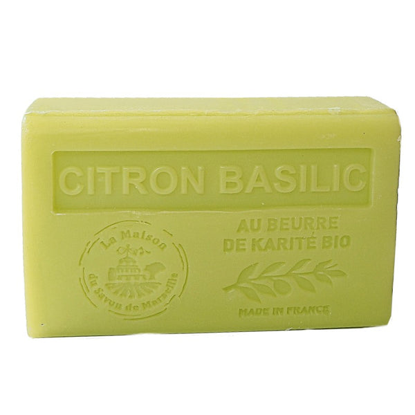Lemon Basil (Citron Basilic) French Soap with organic Shea Butter 125g
