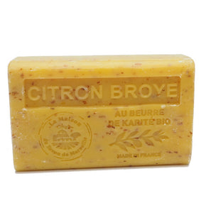 Citron Broye French Soap with organic Shea Butter 125g