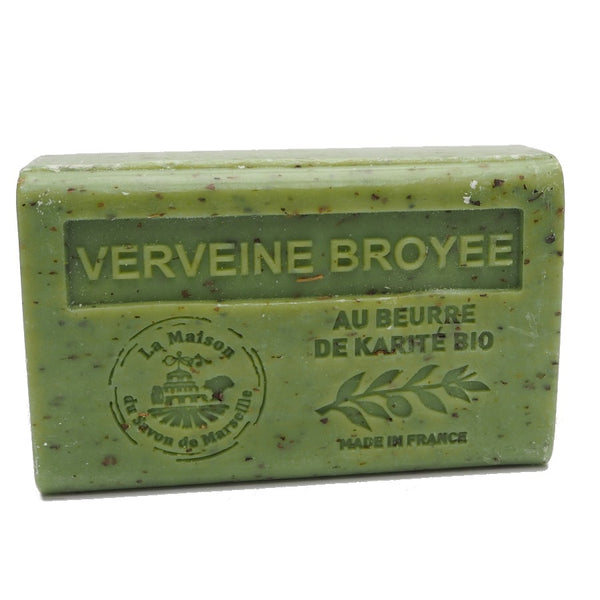 Exfoliating Verbena French Soap with organic Shea Butter 125g