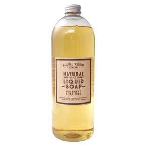 1 litre Refill of Natural Antibacterial Liquid Soap - Rosemary & Tea Tree