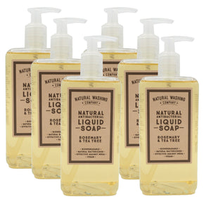 5 + 1 FREE BOTTLE Natural Antibacterial Liquid Soap, Rosemary & Tea Tree
