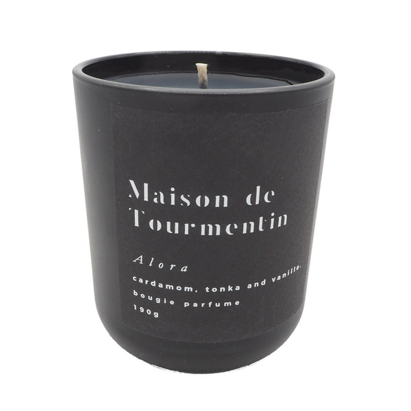 NEW IN Alora Natural Black Wax Candle by Maison de Tourmentin