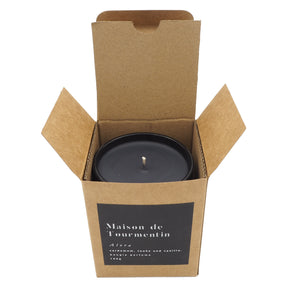 TRÉSOR Natural Black Wax Candle by Maison de Tourmentin