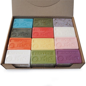 Deluxe boxed set of 24 French Soaps with organic Argan Oil