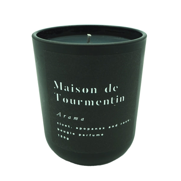 ARAMA Natural Black Wax Candle by Maison de Tourmentin