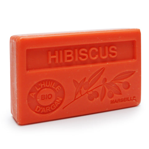 Hibiscus French Soap with Organic Argan Oil