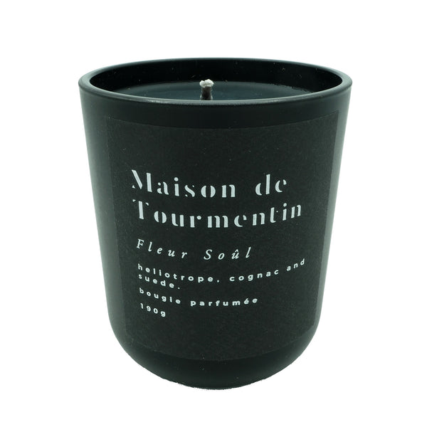 NEW FLEUR SOÛL Natural Black Wax Candle by Maison de Tourmentin