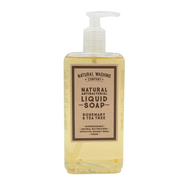 Natural Antibacterial Liquid Soap - Rosemary & Tea Tree