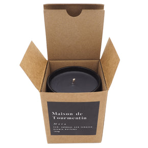 Nero Natural Black Wax Candle by Maison de Tourmentin