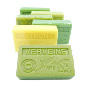 BUY 5 SOAPS GET 1 FREE - Citrus Spring organic Argan Oil French soaps