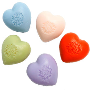 Heart shaped Marseille Guest Soaps in a box