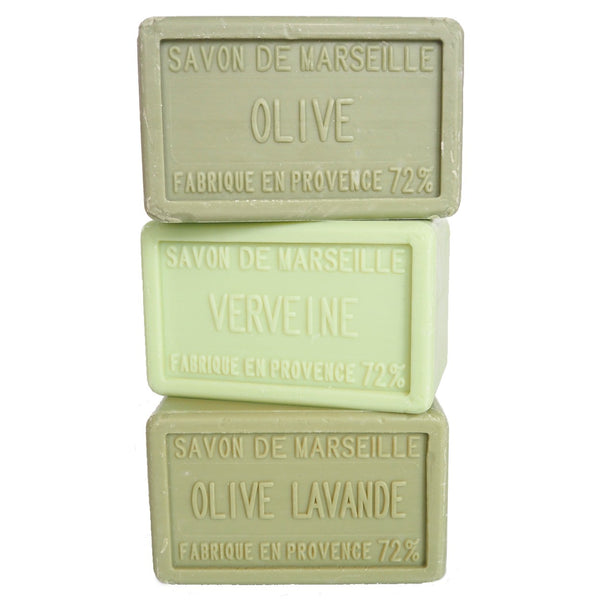 Olive, Lavender and Verbena Trio - Large Marseille Soaps Multibuy
