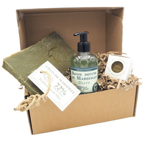 Gift Box of Natural Marseille Soaps
