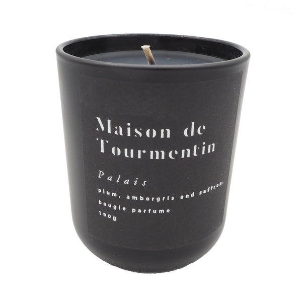 NEW IN Palais Natural Black Wax Candle by Maison de Tourmentin