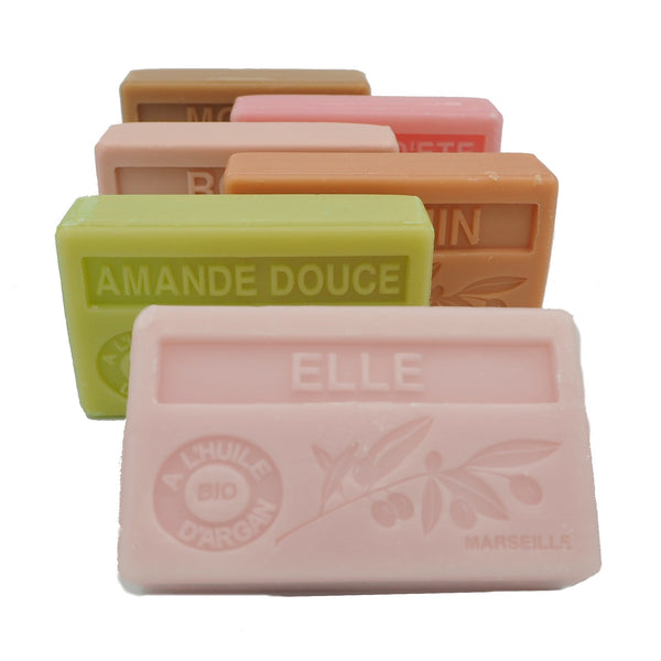 Perfect Pastels multibuy - BUY 5 SOAPS GET 1 FREE organic Argan Oil French soaps
