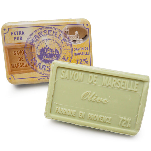 Marseille Tin and Olive Marseille soap