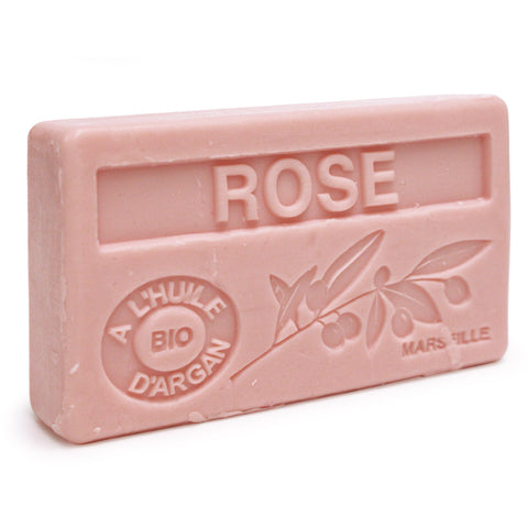 Rose Scented Soap with Organic Argan Oil